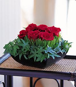 Kahramanmaraş çiçek servisi , çiçekçi adresleri  10 adet kare mika yada cam vazoda gül tanzim