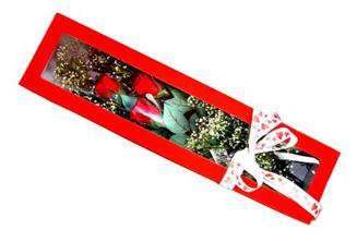 Kahramanmaraş hediye sevgilime hediye çiçek  Kutuda 3 adet gül