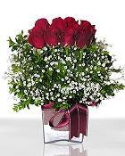 Kahramanmaraş 14 şubat sevgililer günü çiçek  11 adet gül mika yada cam - anneler günü seçimi -