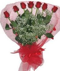 7 adet kipkirmizi gülden görsel buket  Kahramanmaraş ucuz çiçek gönder