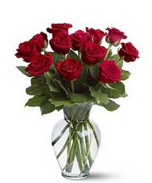 Kahramanmaraş çiçek siparişi vermek  cam yada mika vazoda 10 kirmizi gül