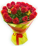 19 Adet kırmızı gül buketi  Kahramanmaraş yurtiçi ve yurtdışı çiçek siparişi