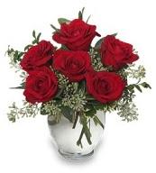 Vazo içerisinde 5 adet kırmızı gül  Kahramanmaraş çiçek online çiçek siparişi