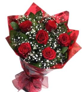 6 adet kırmızı gülden buket  Kahramanmaraş çiçek siparişi sitesi