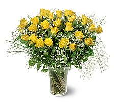 Kahramanmaraş çiçek servisi , çiçekçi adresleri  15 adet sarigül mika yada cam vazoda