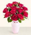 Kahramanmaraş hediye sevgilime hediye çiçek  10 kirmizi gül cam yada mika vazo tanzim