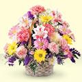 Kahramanmaraş çiçek gönderme sitemiz güvenlidir  sepet içerisinde gül ve mevsim