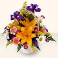 Kahramanmaraş çiçek yolla  sepet içinde karisik çiçekler