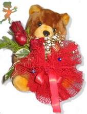 oyuncak ayi ve gül tanzim  Kahramanmaraş kaliteli taze ve ucuz çiçekler