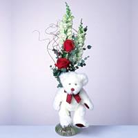 2 adet gül ve panda özel  Kahramanmaraş çiçek online çiçek siparişi