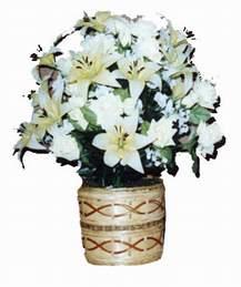 yapay karisik çiçek sepeti   Kahramanmaraş ucuz çiçek gönder