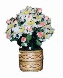 yapay karisik çiçek sepeti   Kahramanmaraş çiçek , çiçekçi , çiçekçilik
