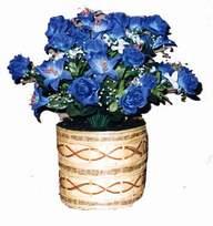 yapay mavi çiçek sepeti  Kahramanmaraş İnternetten çiçek siparişi