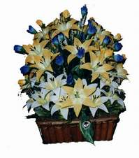 yapay karisik çiçek sepeti   Kahramanmaraş cicek , cicekci