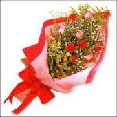 12 adet renkli  gül buketi   Kahramanmaraş çiçek online çiçek siparişi