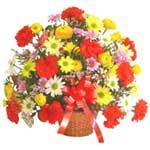 karisik renkli çiçek sepet   Kahramanmaraş çiçek siparişi vermek