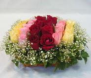 15 adet reprenkli gül sepeti   Kahramanmaraş online çiçek gönderme sipariş