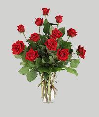 Kahramanmaraş İnternetten çiçek siparişi  11 adet kirmizi gül vazo halinde