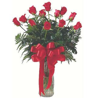 12 adet gül cam içerisinde  Kahramanmaraş İnternetten çiçek siparişi