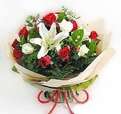 güller ve kazablanklardan görsel bir buket  Kahramanmaraş çiçek mağazası , çiçekçi adresleri