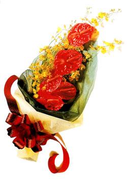 özel 5 adet antorium buketi   Kahramanmaraş çiçek siparişi vermek