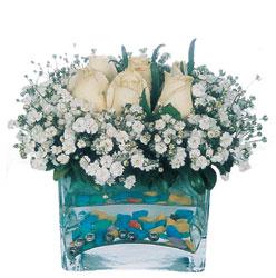 Kahramanmaraş çiçek online çiçek siparişi  mika yada cam içerisinde 7 adet beyaz gül