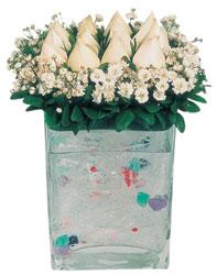 Kahramanmaraş çiçek online çiçek siparişi  7 adet beyaz gül cam yada mika vazo tanzim