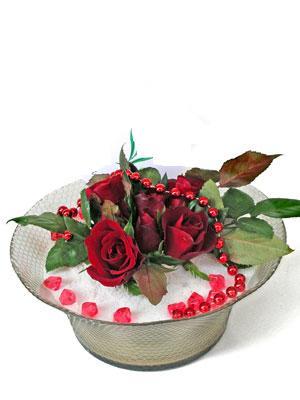 Kahramanmaraş yurtiçi ve yurtdışı çiçek siparişi  EN ÇOK Sevenlere 7 adet kirmizi gül mika yada cam tanzim