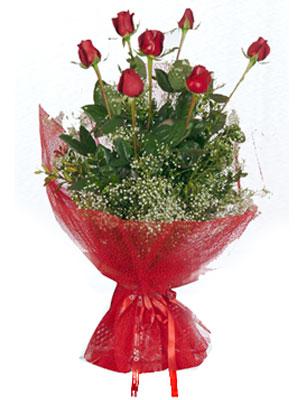 Kahramanmaraş çiçek , çiçekçi , çiçekçilik  7 adet gülden buket görsel sik sadelik