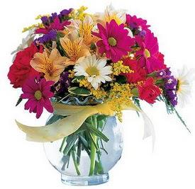 Kahramanmaraş çiçek mağazası , çiçekçi adresleri  cam yada mika içerisinde karisik mevsim çiçekleri