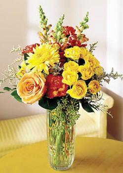 Kahramanmaraş çiçek yolla  mika yada cam içerisinde karisik mevsim çiçekleri