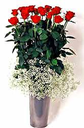 Kahramanmaraş çiçek yolla , çiçek gönder , çiçekçi   9 adet kirmizi gül cam yada mika vazoda