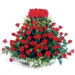 Kahramanmaraş hediye çiçek yolla  41 adet kirmizi gülden sepet tanzimi