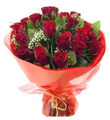 Kahramanmaraş çiçek gönderme  11 adet kimizi gülün ihtisami buket modeli