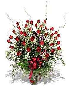 Kahramanmaraş çiçek servisi , çiçekçi adresleri  33 adet kirmizi gül vazo içerisinde