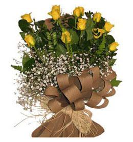 Kahramanmaraş online çiçek gönderme sipariş  9 adet sari gül buketi