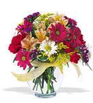 Kahramanmaraş 14 şubat sevgililer günü çiçek  cam yada mika vazo içerisinde karisik kir çiçekleri