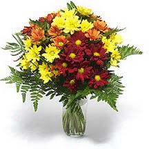 Kahramanmaraş çiçek servisi , çiçekçi adresleri  Karisik çiçeklerden mevsim vazosu