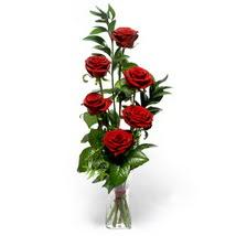 Kahramanmaraş çiçek servisi , çiçekçi adresleri  cam yada mika vazo içerisinde 6 adet kirmizi gül