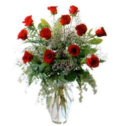 Vazo içerisinde 11 kirmizi gül  Kahramanmaraş yurtiçi ve yurtdışı çiçek siparişi