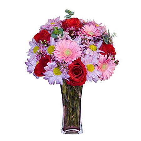Görsel hediye karisik cam mevsim demeti  Kahramanmaraş çiçek online çiçek siparişi