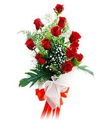 11 adet kirmizi güllerden görsel sölen buket  Kahramanmaraş yurtiçi ve yurtdışı çiçek siparişi