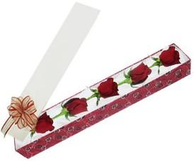 Kahramanmaraş çiçek mağazası , çiçekçi adresleri  kutu içerisinde 5 adet kirmizi gül