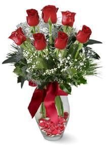 7 adet vazoda gül  Kahramanmaraş çiçek mağazası , çiçekçi adresleri  kirmizi gül