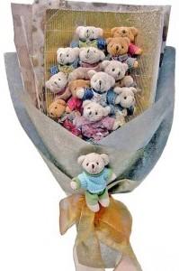 12 adet ayiciktan buket tanzimi  Kahramanmaraş çiçek yolla , çiçek gönder , çiçekçi
