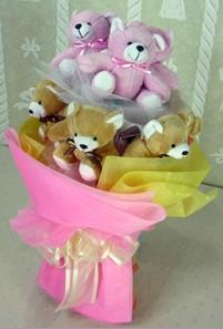 8 adet ayiciktan buket  Kahramanmaraş çiçek yolla , çiçek gönder , çiçekçi