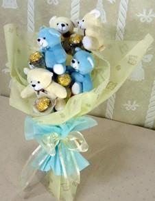 6 adet ayiciktan buket tanzimi  Kahramanmaraş İnternetten çiçek siparişi