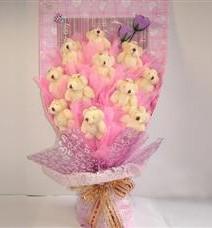 11 adet pelus ayicik buketi  Kahramanmaraş online çiçek gönderme sipariş