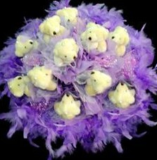 11 adet pelus ayicik buketi  Kahramanmaraş 14 şubat sevgililer günü çiçek