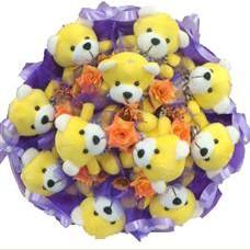11 adet pelus ayicik buketi  Kahramanmaraş ucuz çiçek gönder